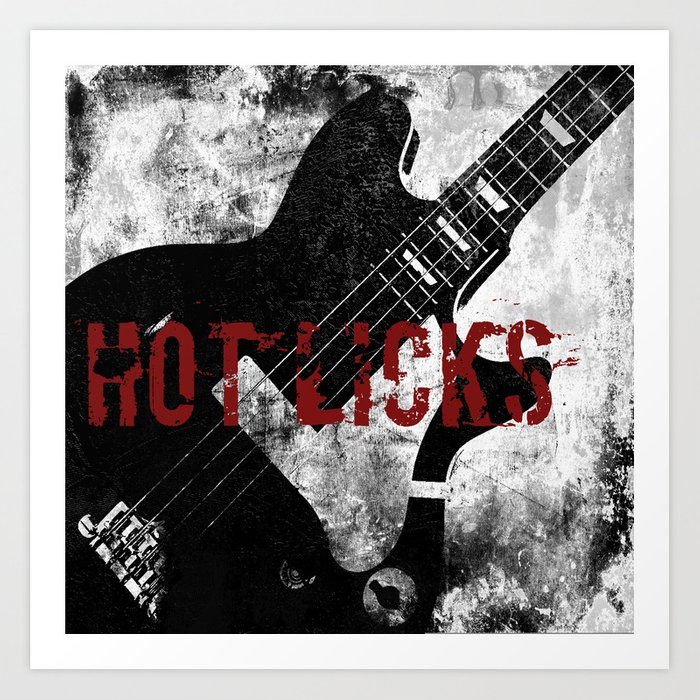 Rock n' Roll Guitar Art Print by mindysommers