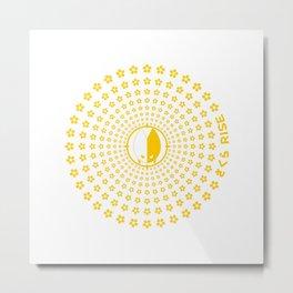 Sakura Rise (Yellow) V2 Metal Print