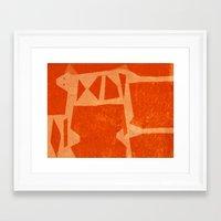 jaguar Framed Art Prints featuring Jaguar by Fernando Vieira