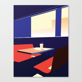 Alone at the Diner Canvas Print
