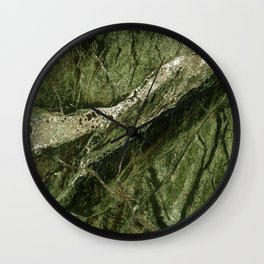 Marble Rain Forest Green Wall Clock