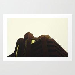 FUTURISTIC BUILDING Art Print