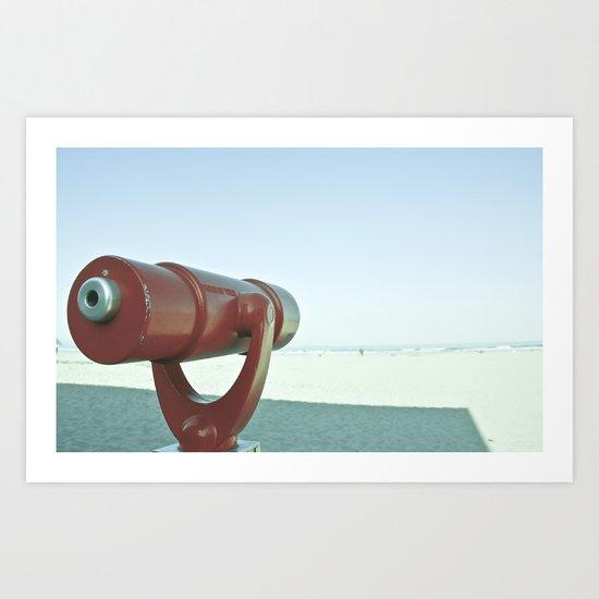 BEACHY SPYGLASS Art Print