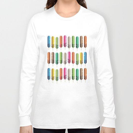 Rainbow Feathers Long Sleeve T-shirt