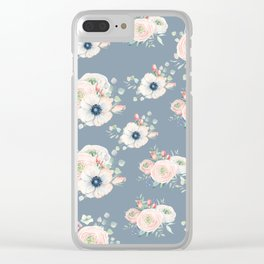 Dog Rose Pattern 3 Clear iPhone Case