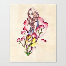 Birth Flower IV - Sweet Pea Canvas Print