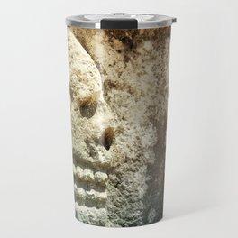 Mayan Stone Skulls Travel Mug