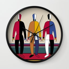 Suprematism Men Wall Clock