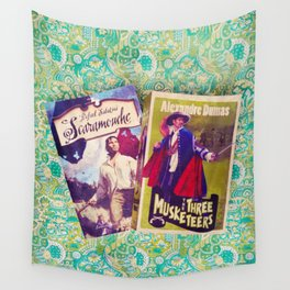 Swashbuckling Books Wall Tapestry