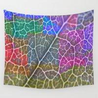 leaf Wall Tapestries featuring Leaf  by Latidra Washington
