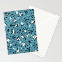 Mid Century blue Stationery Cards