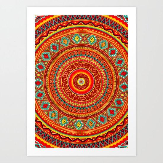 Mandala Aztec Pattern Art Print by Diego Tirigall | Society6