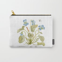 Cyclamen Botanical Watercolor Carry-All Pouch