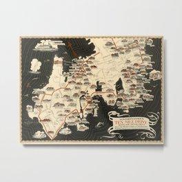 Map Of Newport 1933 Metal Print