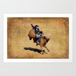 Bull Dust! - Rodeo Bull Riding Cowboy Kunstdrucke