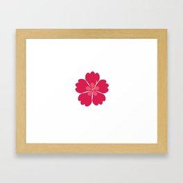 Colourful hibiskus flower Framed Art Print