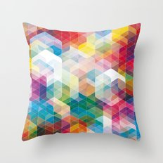 Cuben Curved #3 Geometric Art Print. Throw Pillow