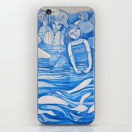 Blue window #8 iPhone Skin