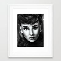 audrey Framed Art Prints featuring Audrey  by Lily Fitch