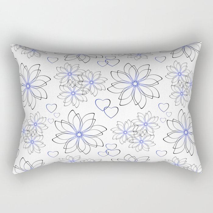 Cute floral pattern. Rectangular Pillow