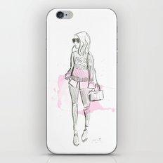 Damsel Pencil Sketch 2 iPhone & iPod Skin
