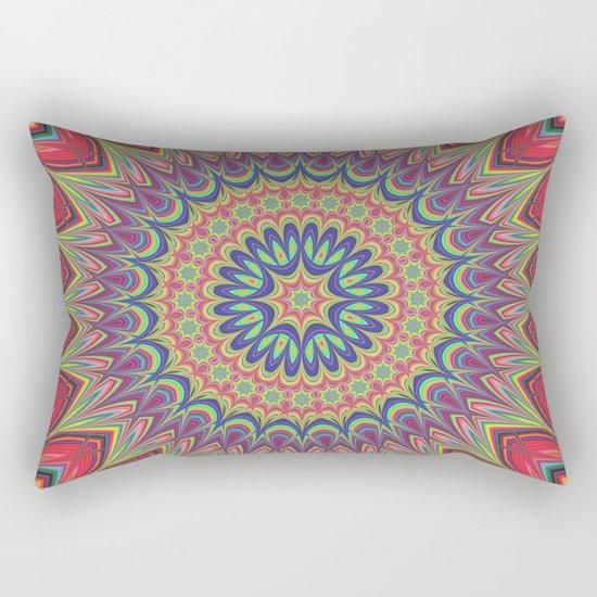 Flame mandala Rectangular Pillow
