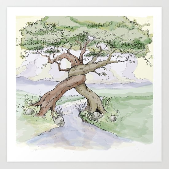 Tree Hug Art Print