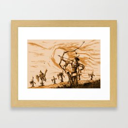 Drawing the bow Framed Art Print
