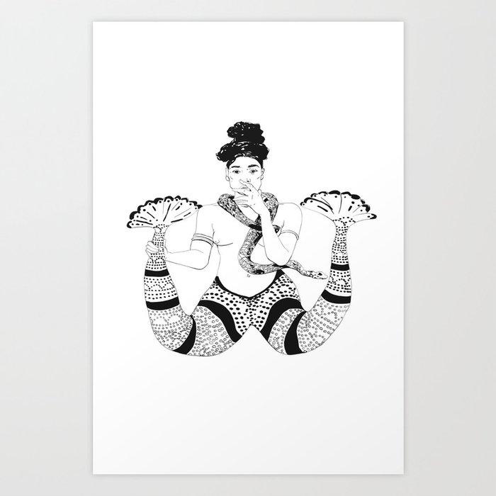 Mami Wata Art Print by entelechy