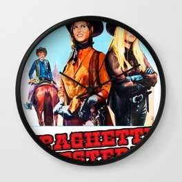 Western Movie Poster Wall Clock