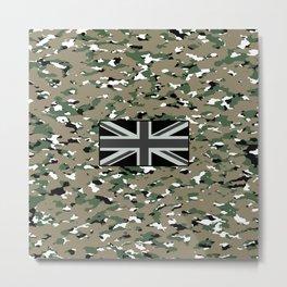Camouflage: Woodland V Metal Print