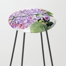 Lilac Love by Teresa Thompson Counter Stool