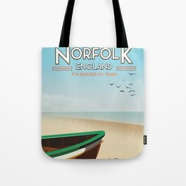 Norfolk Vintage Style travel poster Tote Bag