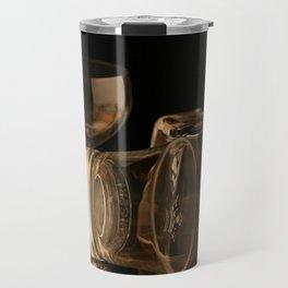 Glasses in Gold Tones Travel Mug