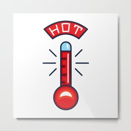 Hot Thermometer Illustration Metal Print