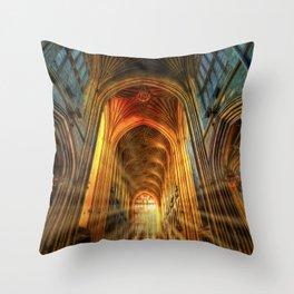 Bath Abbey Sun Rays Art Throw Pillow