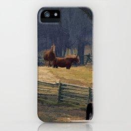 Wilderness Horse Ranch iPhone Case