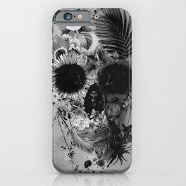 Garden Skull B&W iPhone Case