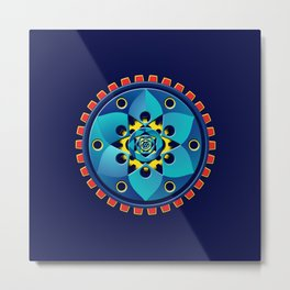 Abstract mechanical object Metal Print