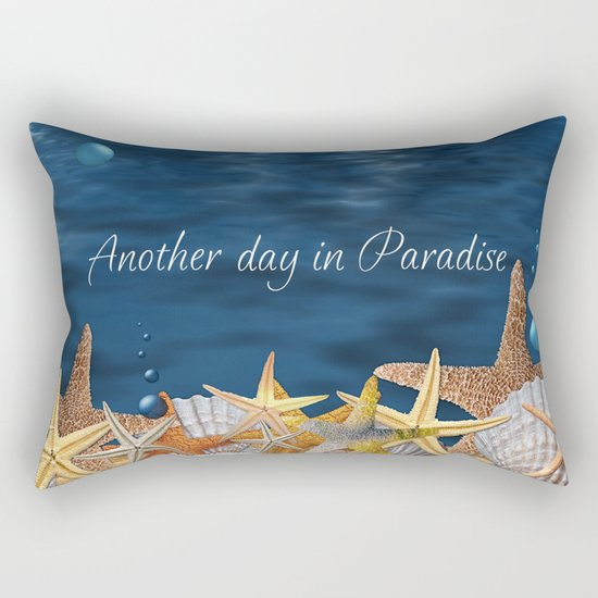 Another Day in Paradise Rectangular Pillow