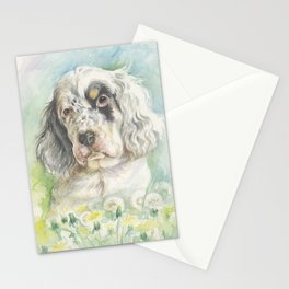ENGLISH SETTER PUPPY Stationery Cards