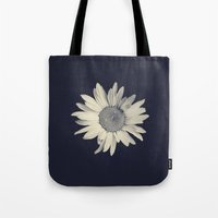 daisy Tote Bags featuring Daisy  by Marianne LoMonaco