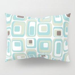Retro Rectangles Mid Century Modern Geometric Vintage Style Pillow Sham