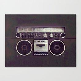 Retro Boombox Canvas Print