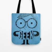 geek Tote Bags featuring GEEK by Farnell