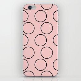 Millennial Pink Brown Circles iPhone Skin