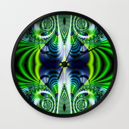 Flight Of Fancy Green Wall Clock