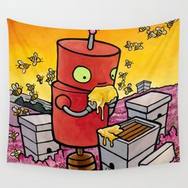Robot - The Apiarist Wall Tapestry