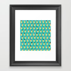 Anna Banana on blue Framed Art Print