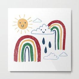 Sunshine & Rainbows Metal Print